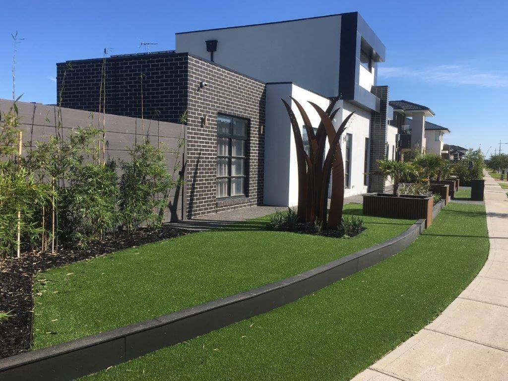 A home in Melbourne with artificial grass installed