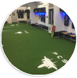 synthetic grass inside in a Geelong building